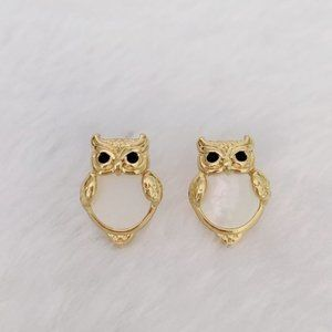 Kate Spade Into The Woods Owl Stud Earrings